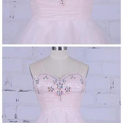 Pink Homecoming Dress Short Beaded ..
