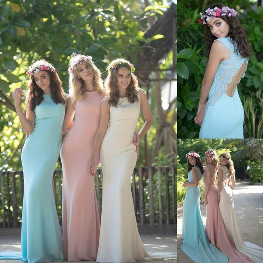Colorful bridesmaid dresses simple bridesmaid dresses for Simple wedding dresses for small wedding