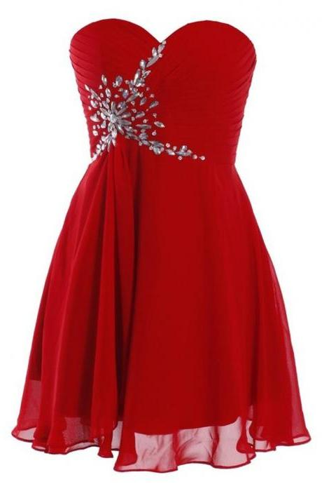 Ladies Cocktail Dresses Cheap Prom Homecoming Dresses Red Short Dress