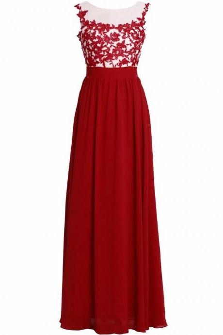 Elegant Long Prom Dresses Strapless Cap Sleeve Lace Chiffon Party Gowns Zipper Evening Dress