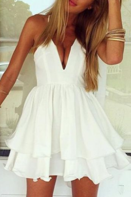 Homecoming Dress,white prom dress,short prom dresses,homecoming dresses,modest homecoming dress,short prom gowns 2017