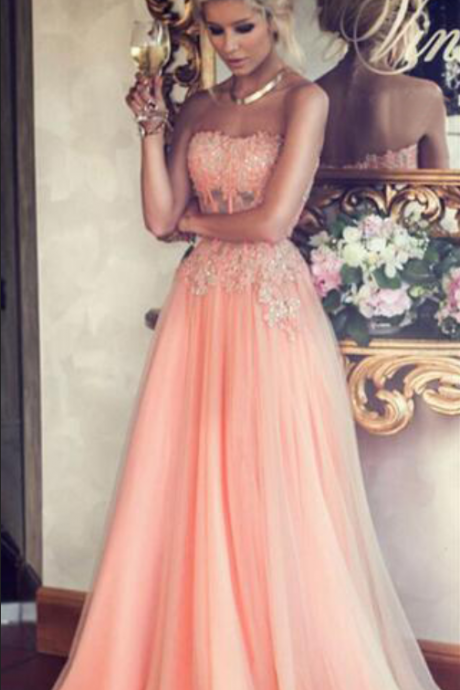 Custom Made Sweetheart Neckline Lace and Jewel Embellished A-Line Evening Dress, Bridesmaid Dresses, Weddings, Prom Dresses