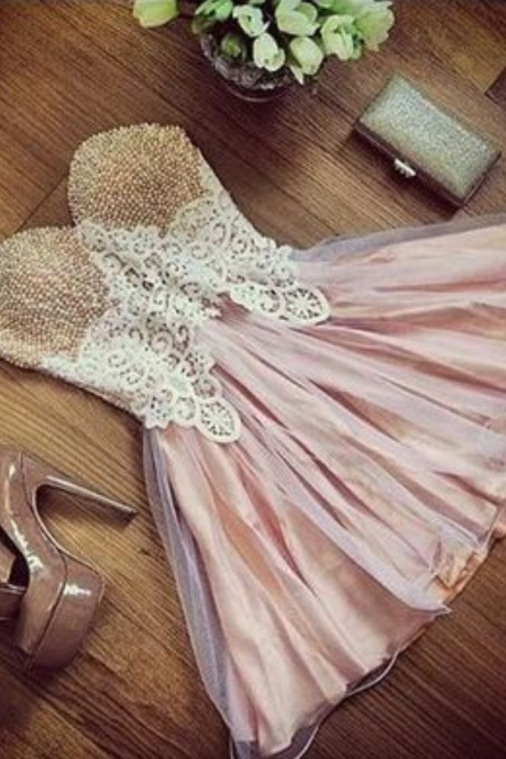 short prom dresses,pink homecoming dresses,modest homecoming dress,short prom gowns