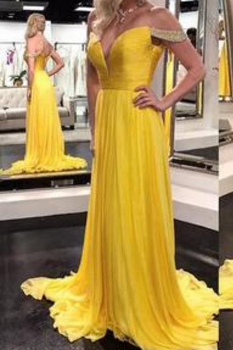 Charming Prom Dresses, Chiffon Evening Dress, Sexy Prom Dress, Long Evening Dress, Formal Dress