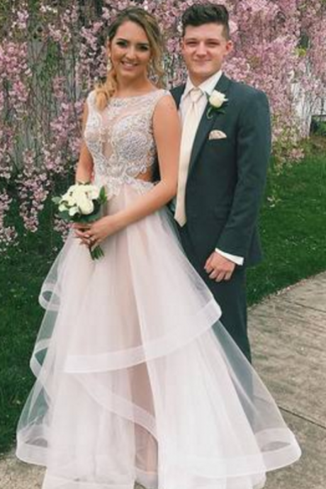 Princess A-line Appliques Long Prom Dress, Party Dress,,Evening Dresses,Long Prom Dresses,Party Dresses