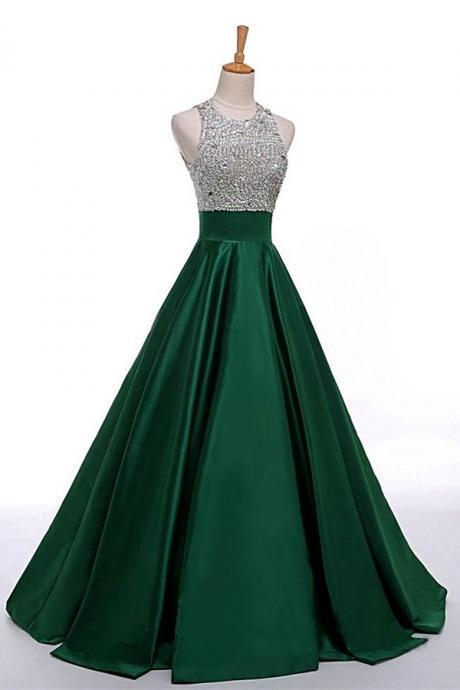 Prom Dresses Evening Gown Wedding Party Dresses Celebrity Dresses satin Floor-length Dress