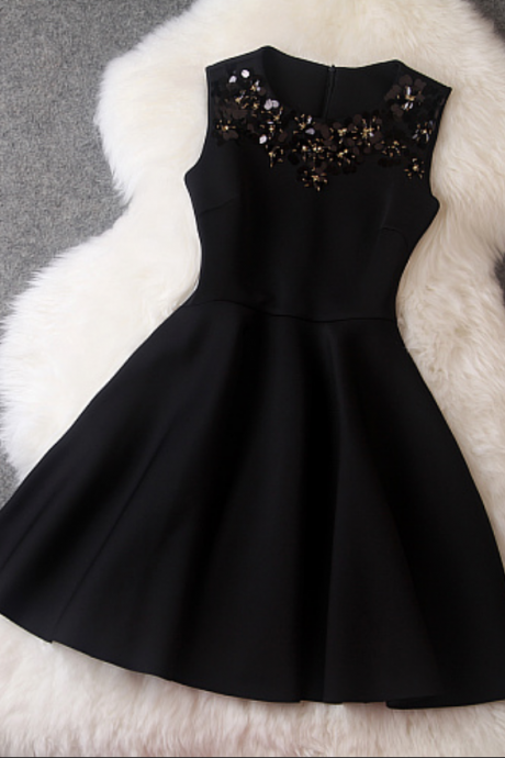 Party Dresses,Black Causal Dresses