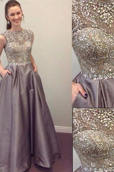 Luxury Rhinestone Prom Dresses, Gorgeous Satin Prom Dresses, Formal Evening Dresses, Prom Dresses, Popular prom dresses, Juniors prom dresses