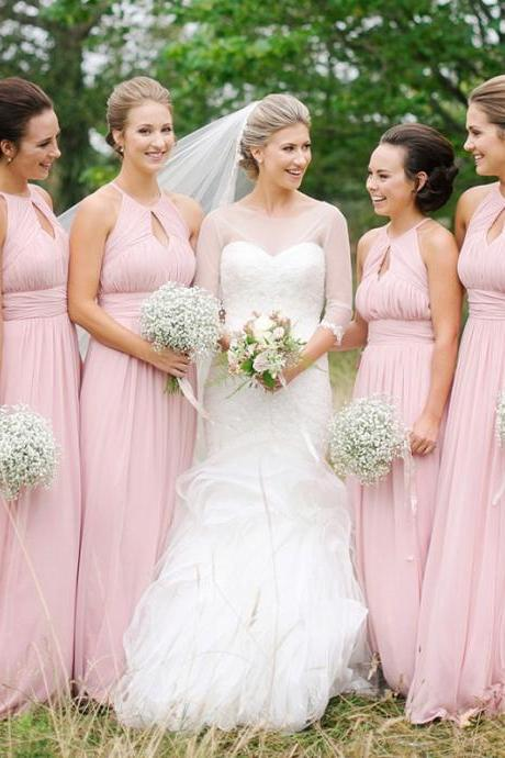 Unique Bridesmaid Dresses,A-line Bridesmaid Dress,Chiffon bridesmaid dress,Custom bridesmaid dress, Wedding Party Dresses,Long Bridesmaid Dress,Bridesmaid Dresses