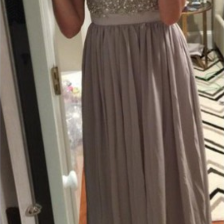Lace Prom Gown,Pretty Prom Dresses,Gray Prom Gown,Simple Prom Gown,Grey Bridesmaid Dress,Cheap Evening Dresses,Fall Prom Gowns,2016 Beautiful Bridesmaid Gowns