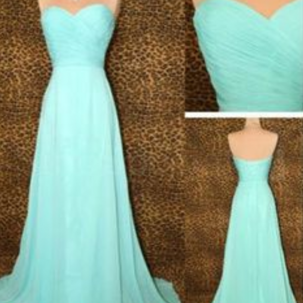 Bridesmaid Gown,Pretty Blue Prom Dresses,Chiffon Prom Gown, Simple Bridesmaid Dress,Cheap Evening Dresses,Fall Wedding Gowns