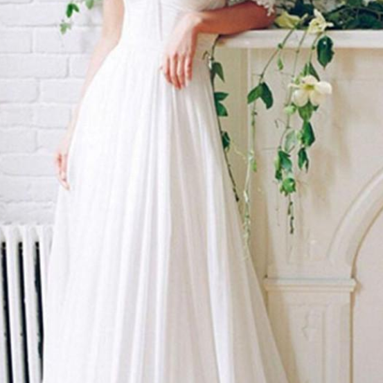 Sexy Long Appliques Wedding Dresses A-Line Off-Shoulder Bridal Dresses