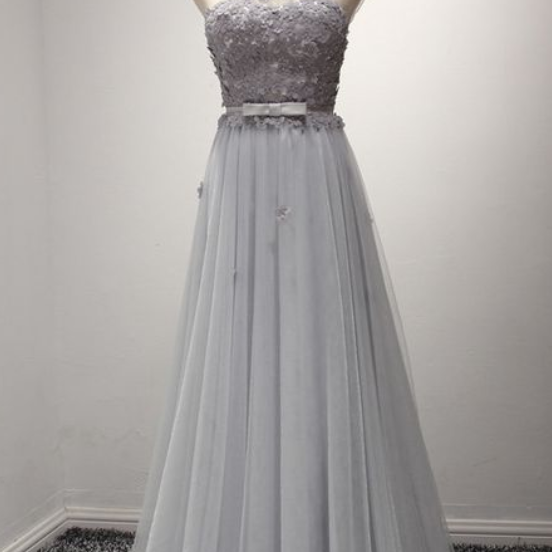 Gray One Shoulder prom dress,Grecian Prom Formal Dress with Daisy Flower