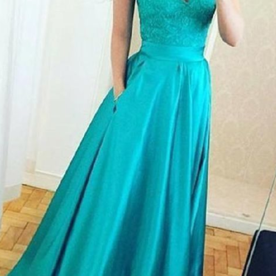 Simple Charming Elegant Lace A Line Long Party Dress, Sweetheart Strapless Floor Length Prom Dress
